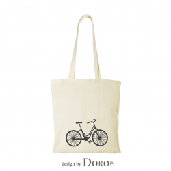 Cotton Tote natural 100gsm bike design + your logo for FREE*