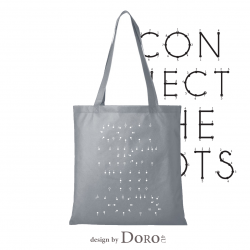 Non woven conferentietas connect dots ontwerp + uw logo GRATIS*
