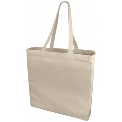 Premium cotton tote, natural, 220 gsm, 38x8.5x41 cm