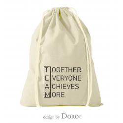 Premium katoenen rugzak team ontwerp + uw logo GRATIS*