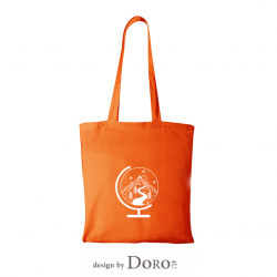 Cotton tote abstract travel design + your logo for FREE*