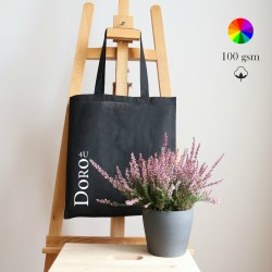 Carolina cotton Tote, many colors, 100 gsm, 38x42 cm