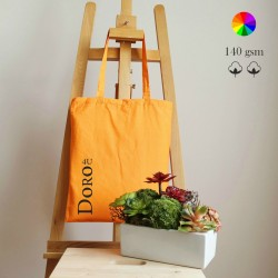Madras Cotton tote, many colors, 140 gsm, 38x42 cm