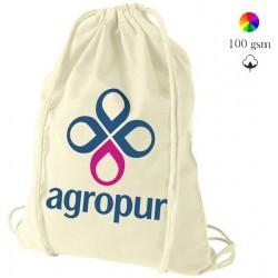 Oregon cotton drawstring bag