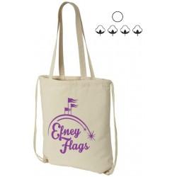 Eliza cotton drawstring bag