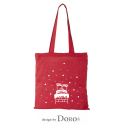 Cotton tote Christmas design + your logo for FREE*