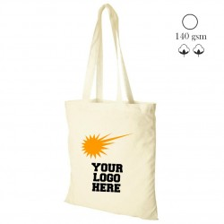 Cotton shopping bag natural 140gsm, 38x42 cm