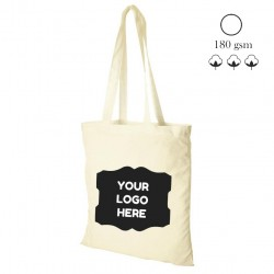 Canvas shopping bag, natural, 180 gsm, 38x42 cm
