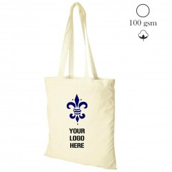 Cotton shopping bag natural, 100 gsm, 38x42 cm