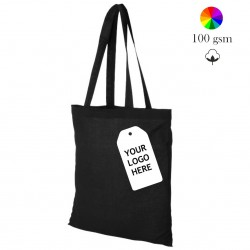 Carolina cotton tote bag, many colors, 100 gsm, 38x42 cm