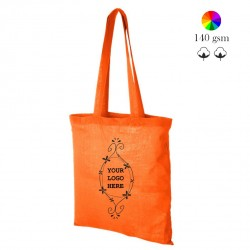 Madras cotton tote bag, many colors, 140 gsm, 38x42 cm