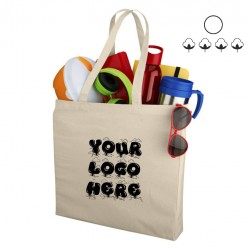 Premium canvas bag, natural, 220 gsm, 38x8.5x41 cm