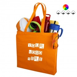 Odessa cotton tote, many colors, 220 gsm, 38x8.5x41 cm