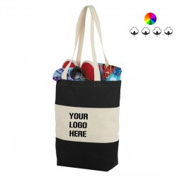 Cotton Colour Block Tote