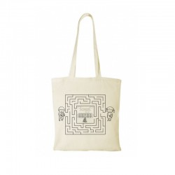 Cotton Tote natural 100gsm school-3 design + your logo for FREE*