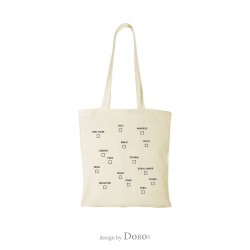 Shopping bag with cities design